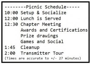 Chapter Picnic July 25